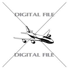Large Aircraft Airplane Vector Images Vinyl by GuysAfterConception