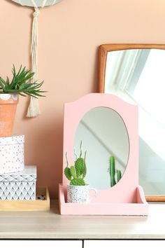 MY ATTIC SHOP / pink mirror / roze spiegel / pastel www.entermyattic.com