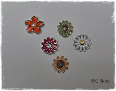 Floating Locket Charms Flowers fits Origami Owl living by SSCStore
