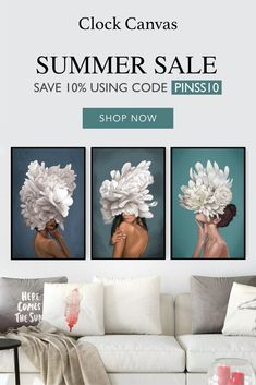 Don't miss our Summer Sale! All items up to 50% off 🔥🔥🔥  Use code: PINSS10 for an additional 15% off your purchase!  Shop now -> www.clockcanvas.com Luxury Bedroom Furniture, Diy Bedroom Decor, Living Furniture, Tres Bien Shop, Special Massage, Front Door Christmas Decorations, Rose Candle, Water Art, Custom Home Designs