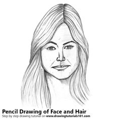 Female Face with Hair