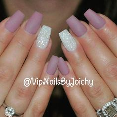 Simple pretty nails beauty beautiful matt natural nails some beauty Matte Nails Glitter, Glitter Accent Nails, Purple Nails, Fake Nails For Kids, Ring Finger Nails, Super Nails, Nagel Gel, Gel Nail Art, Nail Polish