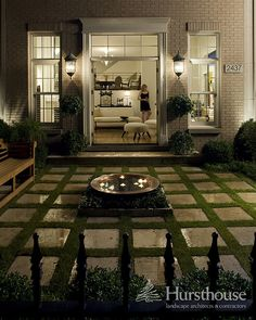Love the pavers and floating candles