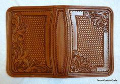 IN STOCK Leather Portfolio with Western by texascustomcrafts-SR