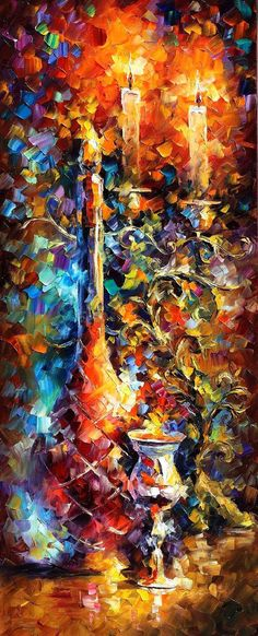 Long Vase  oil painting on canvas by Leonid by AfremovArtStudio