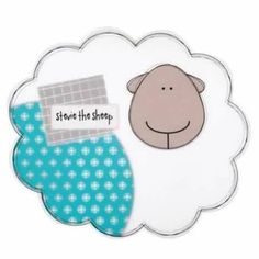 Pillow with cute sheep appliques template