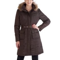Jessie G. Women's Thinsulate Filled Long Hooded Parka Coat i