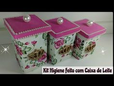 Fabric Flowers, Decorative Boxes, Christmas Ornaments, Holiday Decor, Youtube, Home Decor, Recycling Ideas, Victoria, Easy Crafts