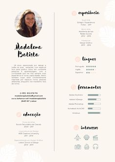 Resume // Madalena Batista on Behance