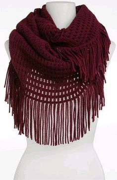 Hinge® Tassel Scarf from Nordstrom Fall Outfits, Summer Outfits, Cute Outfits, Summer Clothes, Woven Scarves, Crochet Scarves, Cute Scarfs, Scarf Hat, Fringe Scarf