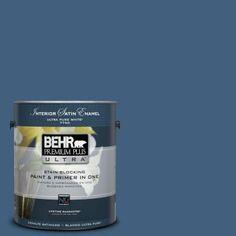 BEHR Premium Plus Ultra 1-gal. #M510-6 Tidal Satin Enamel Interior Paint
