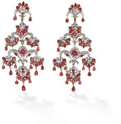 PHILLIPS : UK060111, , A pair of ruby and diamond earrings