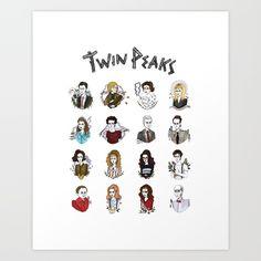 twin peaks Art Print by Bunny Miele   Society6