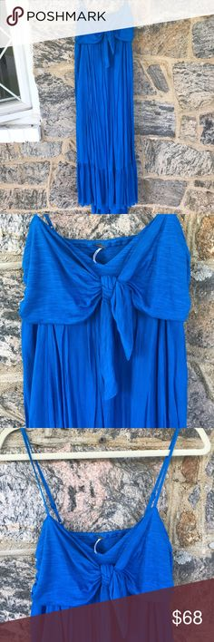 Free People Maxi Free People Maxi Dress with Open Back. Absolutely Stunning! Beautiful Ocean Blue Color! Worn twice! No damage! Perfect Condition!! 🌞✨🌊 Free People Dresses Maxi