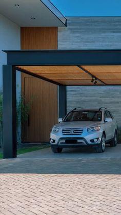 Car Porch Design, Garage Design, Patio Design, House Design, Modern Carport, Modern Pergola, Outdoor Pergola, Outdoor Decor, Home Decor Hooks