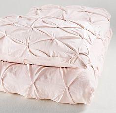 Pintucked Bow Duvet Cover | Duvet Covers & Shams | Restoration Hardware Baby & Child