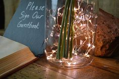 Really bring the magic to any event with our 20 ft warm white fairy lights that have 60 tiny LEDs (about the size of a grain of rice) on ultra thin diameter . Led Fairy Lights, Led String Lights, Solar Powered Lights, Solar Lights, Uses For Mason Jars, Empty Frames, Wedding Decorations, Wedding Ideas, Wedding Inspiration