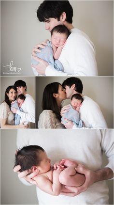 newborn family shots - love the cream and grey tones