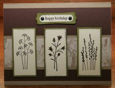 """Man"" card!    Stamps: Pocket Silhouettes, Teeny Tiny Wishes  Paper: Crumb Cake, Textured Chocolate Chip, Very Vanilla, Old Olive, Glossy White  Ink: Early Espresso, Crumb Cake, Soft Suede, Old Olive  Accessories: brads, dimensionals  Techniques: Faux Mother of Pearl"