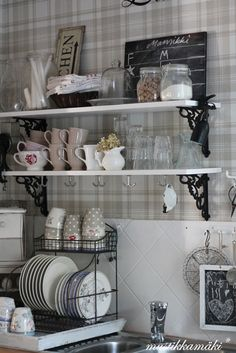I Like The Plate Rack Thing!Help Organize My Cabinets (since I Donu0027. Küche  EsszimmerRegalZuhauseGrau ...
