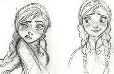 Disney Frozen Anna Sketches Details - Concept Artkljk