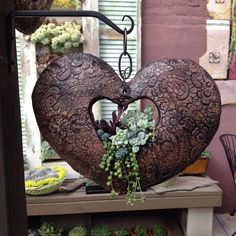 Garden in a heart. From The Succulent Cafe, Oceanside, CA