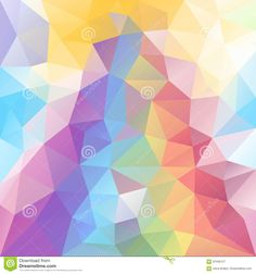 Vector Irregular Polygon Background With A Triangle Pattern In Pastel Full Spectrum Rainbow Color With Reflection Stock Vector - Illustration of colour, mesh: 97456127