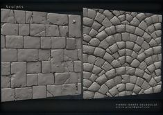 Tilable textures for Game's Environment All Sculpted from scratch on Zbrush 3d Texture, Stone Texture, Texture Design, Zbrush Character, Character Art, Character Design, Zbrush Environment, Principles Of Animation, Hand Painted Textures