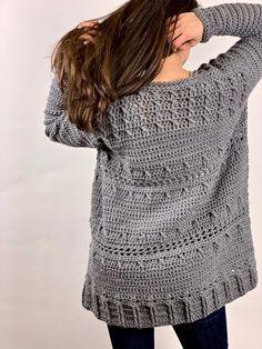 Crochet Hooded Scarf, Crochet Coat, Crochet Cardigan Pattern, Crochet Jacket, Filet Crochet, Crochet Clothes, Crochet Sweaters, Back Post Double Crochet, Crochet Abbreviations