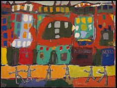 Cave to Canvas, View of Paris with Furtive Pedestrians - Jean...