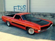 1970 Ford Ranchero GT...  Maybe put the black stripe on medium blue metallic...