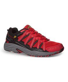 FILA Fire Red & Black Headway 4 Running Shoe by FILA #zulily #zulilyfinds