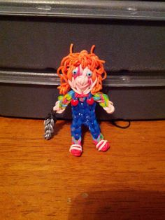 Rainbow Loom Chucky. Designed and loomed by Yvonne Ambrose.Rainbow Loom Obsession FB page. 03/03/14