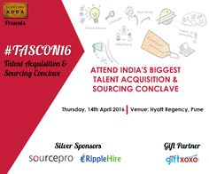 Enlighten yourself with new & exquisite Ideas, Strategies & Technologies implemented at #TASCON16 http://tascon.in ‪#‎Recruitment‬ ‪#‎Sourcing‬
