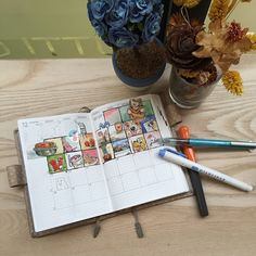 fun calendar art journal idea - sketch a day