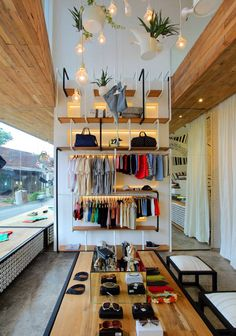 In-store visual merchandising. (Denimdenim / Word of Mouth Architecture). #retail #fashion #merchandising
