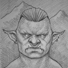 Second portrait for the game I'm working on, the mountain troll is a bit sturdier than the forest troll, and enjoys throwing big boulders on bypassing christians.