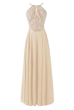 "6 Bridesmaid Looks Everyone Can Agree On #refinery29 http://www.refinery29.com/2016/10/126230/most-popular-bridesmaid-dresses#slide-4 Dresstells Chiffon Long Halter Bridesmaid Gown, $131.68-$149.95According to Pinterest, <a href=""https://www.shopstyle.ca/p/dresstells-chiffon-prom-dress-long-halter-bridesmaid-gown-with-beads-champagne-size-4/503420883?redirect=false"" rel=""nofollow"" target=""_b..."