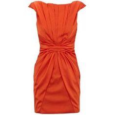 Bqueen Bold Colourful Dress Orange K260C - Designer Shoes Bqueenshoes.com