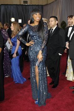 Jennifer Hudson in Roberto Cavalli On the Red Carpet at the Oscars