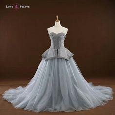 2ac80efb8 RSM66242 sweetheart peplum gray long train party dresses sale elegant evening  dresses prom formal dress