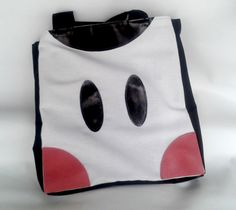 Happy shopping bag - Cow // Canvas and leather