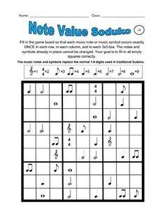 Music Sudoku with Basic Music Symbols #3
