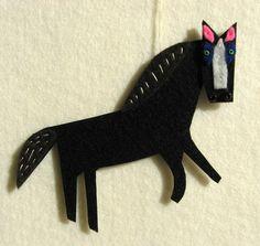 horse ornament by Laura Kedro. $10
