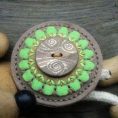 Brož mandalka brož knoflík brožka mandala mandalka crochetka odzoba