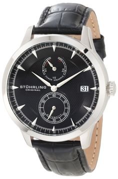 Stuhrling Original Men's 493.33151 Symphony Eternity Navigator PR Automatic Date Leather Strap Watch