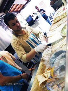 Wrap making, Beirut, Lebanon