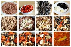 Low carb chili - no beans - collage