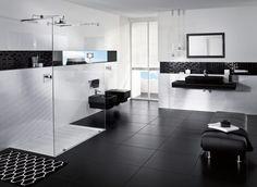 Badezimmer Schwarz-Weiß - Bathroom - Villeroy & Boch