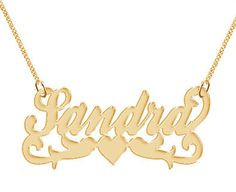Name Necklace Personalized Hand Made Custom Gold by drunksmith, $44.99